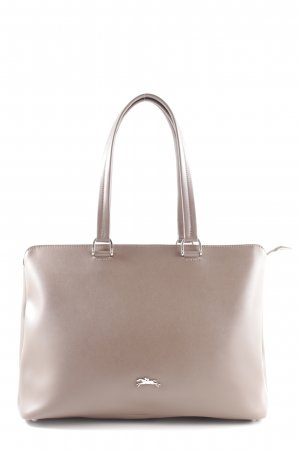 Longchamp Schultertasche creme Business-Look