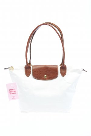 Longchamp Comprador blanco-marrón look casual