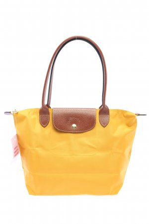 Longchamp Comprador amarillo pálido-marrón look casual