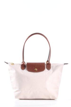 """Longchamp Torba shopper """"Type """"Shopping"""""""" w kolorze białej wełny"""