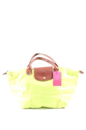 Longchamp Shopper blassgelb-braun Casual-Look