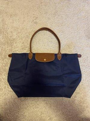Longchamp Shopper bleu foncé-brun