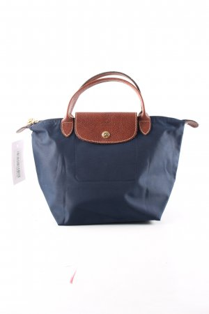 Longchamp Canvas Bag blue-brown casual look