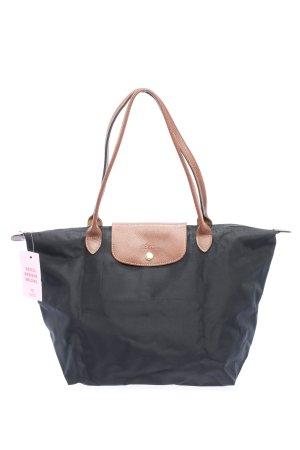 Longchamp Sac en toile noir-brun style décontracté