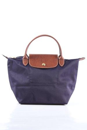 Longchamp Stofftasche lila-braun Casual-Look