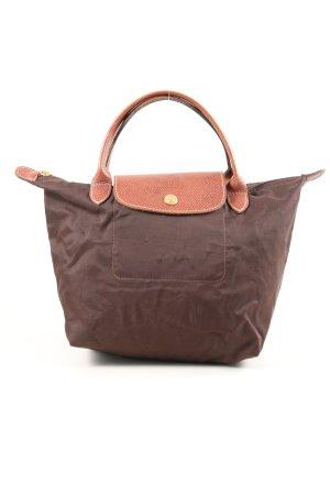 "Longchamp Sac en toile ""Type ""S"""" brun"
