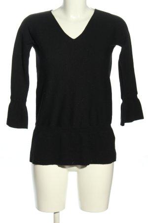 Longchamp Maglione lavorato a maglia nero stile casual