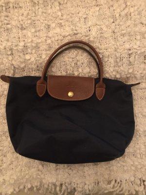 Longchamp Sac à main brun-bleu foncé