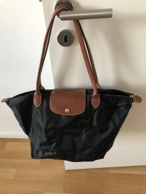 Longchamp Torba shopper czarny-brązowy