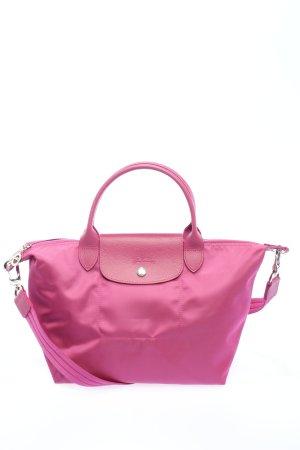 Longchamp-Tasche mit Schulterriemen in Beere