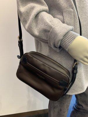 Longchamp Tasche Umhängetasche Leder braun
