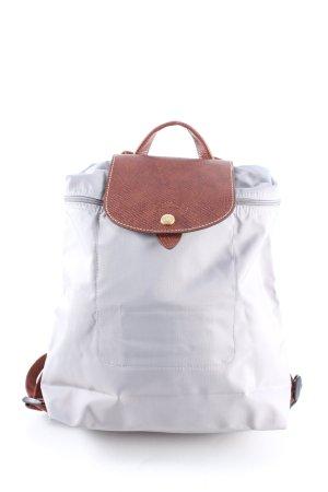 Longchamp Trekking Backpack white-brown casual look