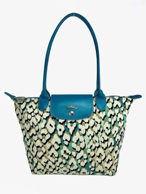 Longchamp TURQUOISE PANTHER PRINT Schultertasche