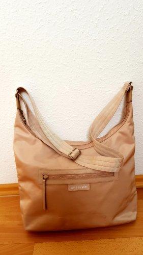 Longchamp Umhängehandtasche beige, Original
