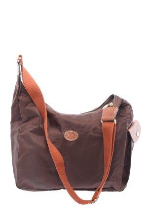 Longchamp Umhängetasche braun-rot Casual-Look