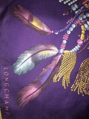 """Longchamps Seidentuch Violett """"Collier Massai"""""""