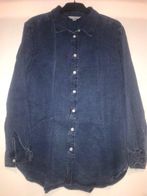 H&M Trend Blusa larga azul oscuro