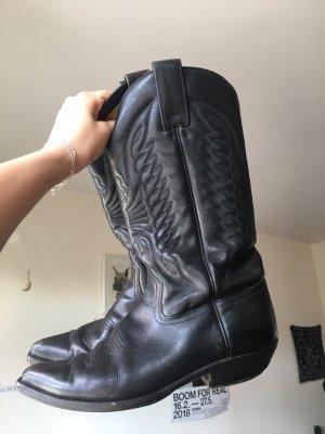 True Vintage Botas estilo vaquero negro
