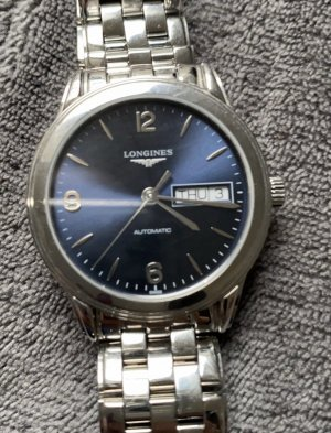 Longines Self-Winding Watch silver-colored-dark blue