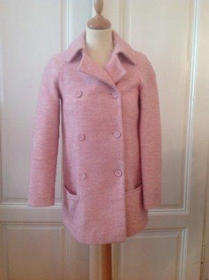 Longjacket, Jacke, rosa meliert, puderrosa, wie NEU, kaum getragen, Wollmix