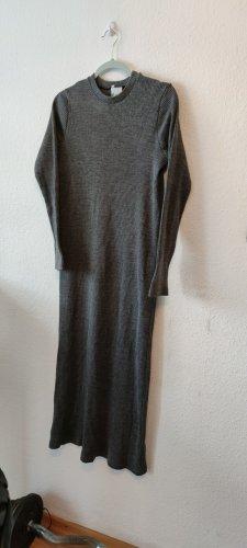 Ohne Vestido de tela de sudadera gris