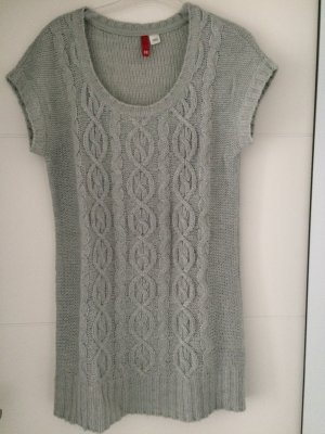 H&M Divided Long Sweater light grey-silver-colored polyacrylic