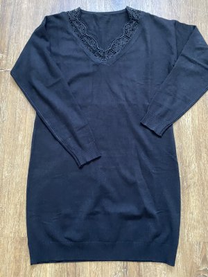 Swetrowa sukienka czarny