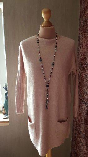 Made in Italy Maglione lungo rosa antico-color oro rosa