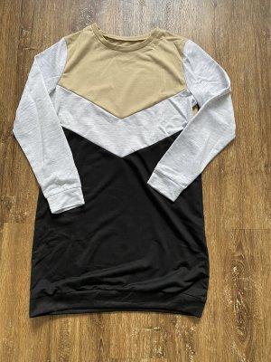 Swetrowa sukienka jasnoszary-czarny