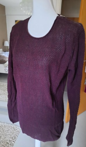 Review Long Sweater blackberry-red