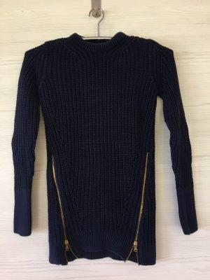 Zara Knit Lange jumper donkerblauw