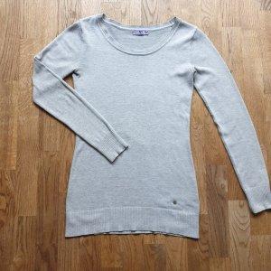 AJC Lange jumper lichtgrijs-grijs