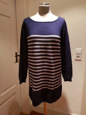 American Vintage Long Sweater white-blue