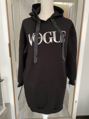 fashion Hooded Sweater black-silver-colored