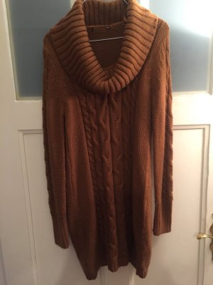 H&M Coarse Knitted Sweater brown-cognac-coloured