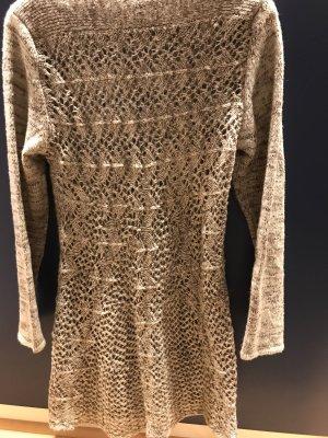 Aniston Pull en crochet gris brun