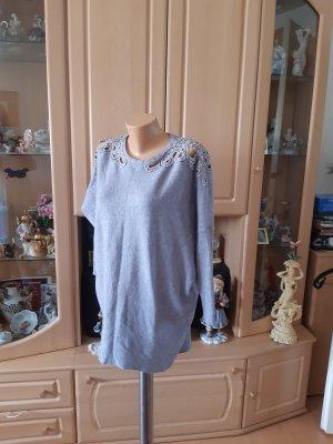 Abito maglione argento Tessuto misto