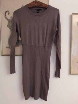 Mango Basics Swetrowa sukienka szaro-brązowy