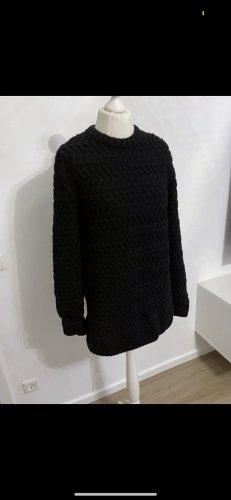 Longpullover strick schwarz winterpullover