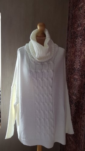 Made in Italy Turtleneck Sweater white polyacrylic