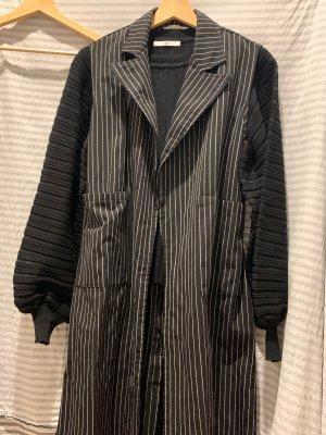 Lange cardigan zwart-wit Katoen