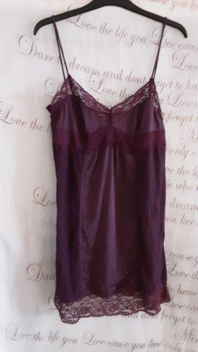 Zara Trafaluc Camicia lunga rosso mora-viola