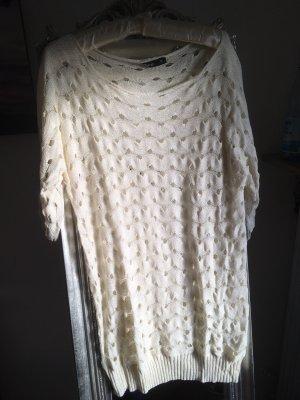 Camisa de malla blanco puro