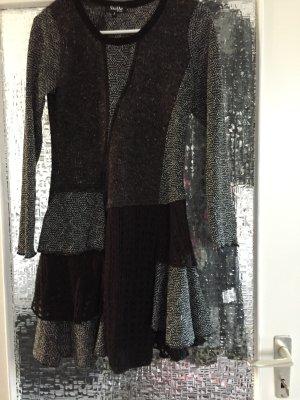 Gebreid jack zwart-zilver Textielvezel