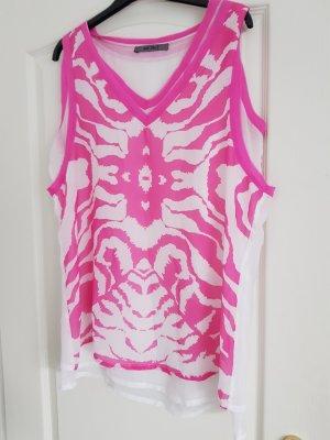 Jean Paul Shirt Tunic white-pink