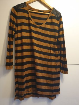 H&M Lang shirt zwart-brons