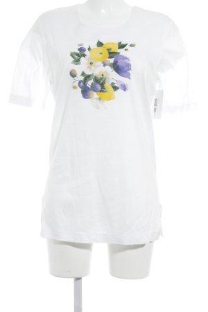Longshirt Blumenmuster Casual-Look