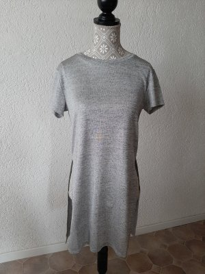 H&M Lang shirt zilver-grijs