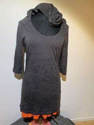Diesel Camisa larga gris oscuro-negro Algodón