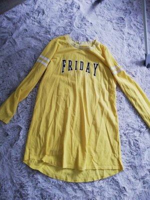 Defacto Shirt Dress black-yellow